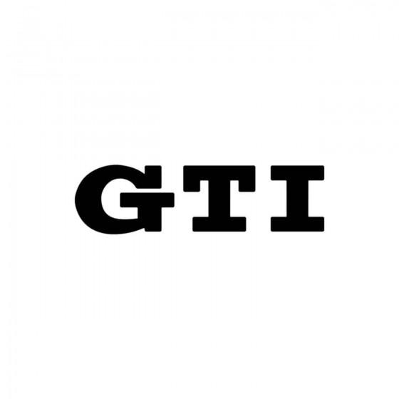 Volkswagen Gti Vinyl Decal...