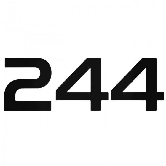 Volvo 244 Decal Sticker