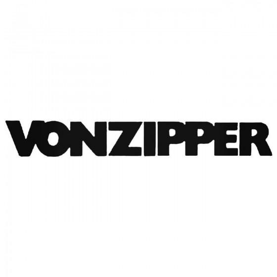 Von Zipper Text Bold Decal...