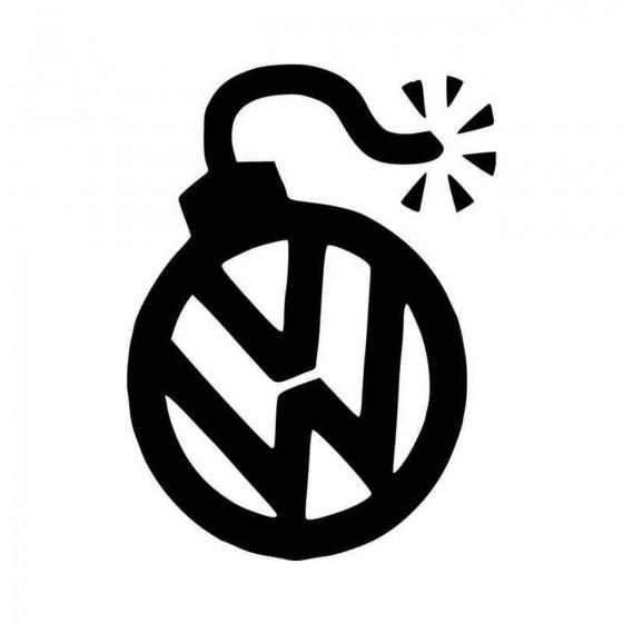 Vw Bomb Vinyl Decal Sticker