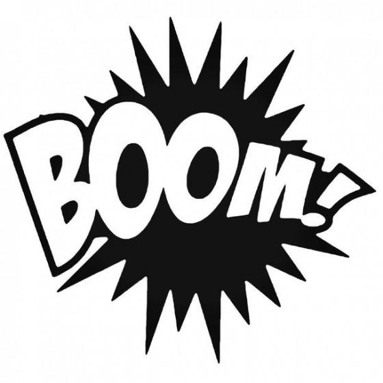 Boom Decal Sticker