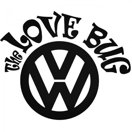 Vw The Love Bug Decal Sticker