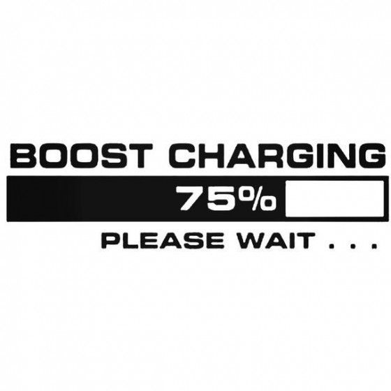 Boost Charging Decal Sticker