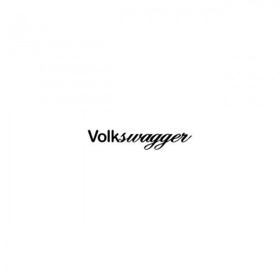 Vw Volkswagger Decal Sticker