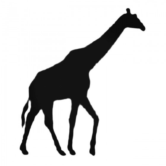 Walking Giraffe Decal Sticker
