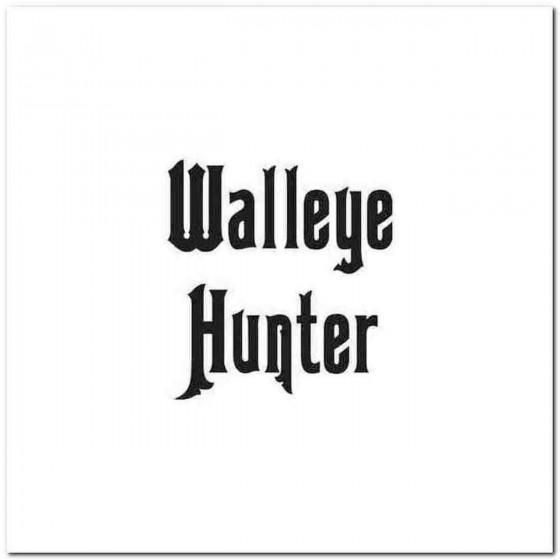 Walleye Hunter Decal Sticker