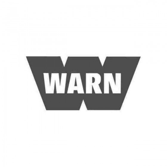 Warn Winches Sponsor Decal...