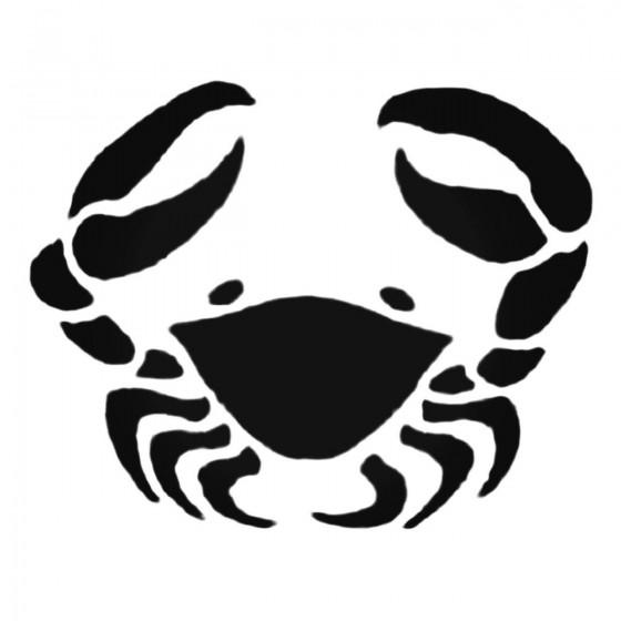 Wavy Crab Decal Sticker