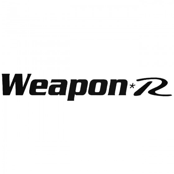Weapon R 3 Graphic Decal...