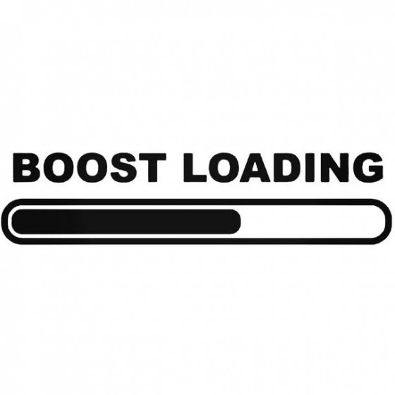 Boost Loading Decal Sticker