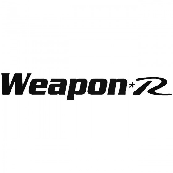 Weapon R Logo Vinyl Decal...