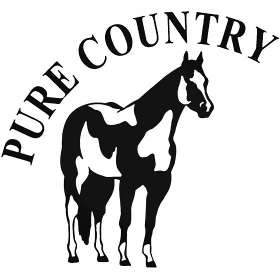 Western S Pure Country 2 Decal