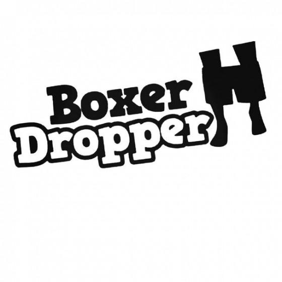 Boxer Dropper 1 Decal Sticker
