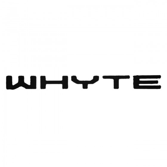 Whyte Text Decal Sticker