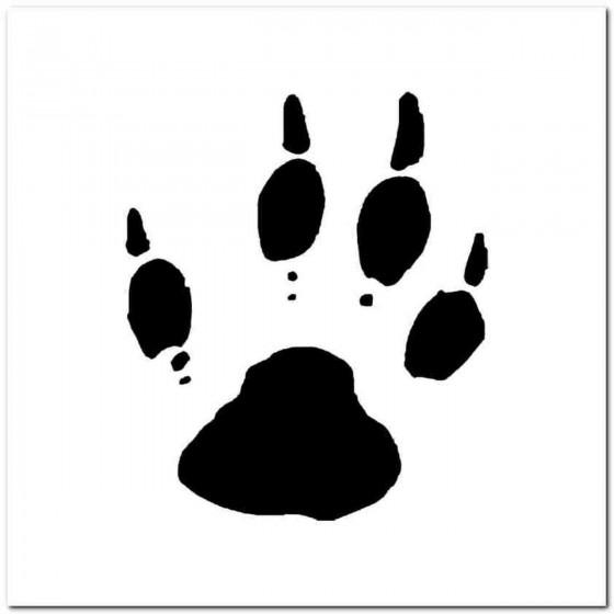 Woodchuck Paw Print Tracks...