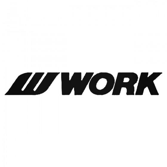Work Wheels Decal Sticker