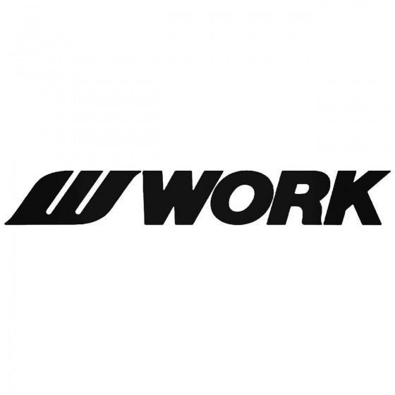 Work Wheels Logo Vinyl...