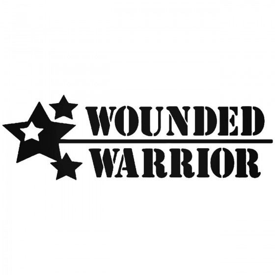 Wounded Warrior Vinyl Decal...