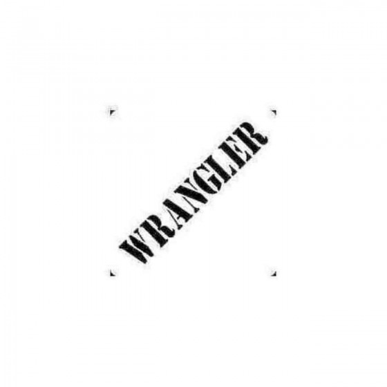 Wrangler Decal Sticker