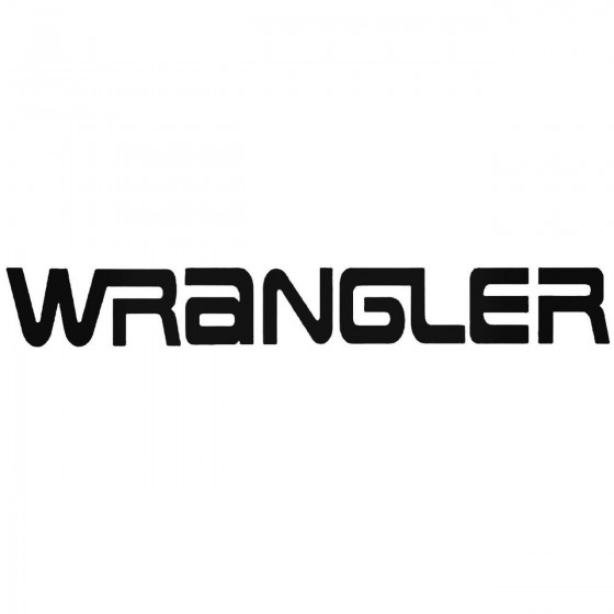 Wrangler Graphic Decal Sticker