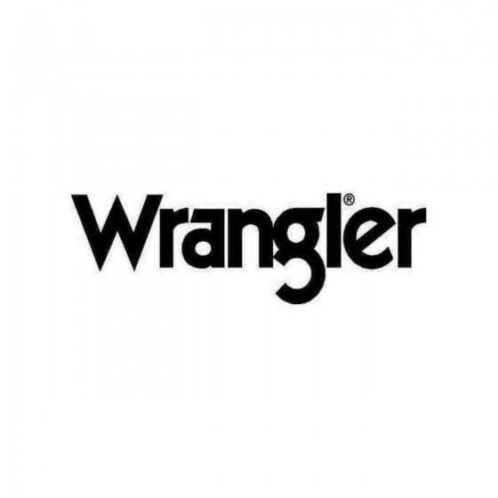 Wrangler Logo Decal Sticker