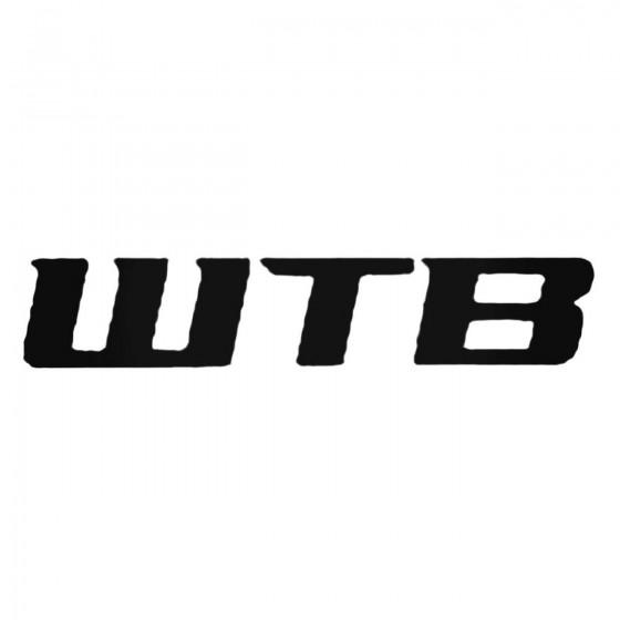 Wtb Text Decal Sticker