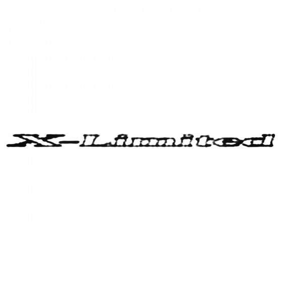 X Limited Decal Sticker 1