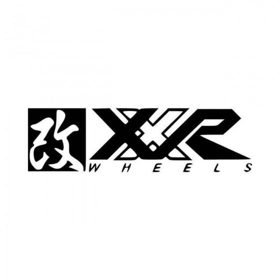 Xxr Wheels Vinyl Decal Sticker