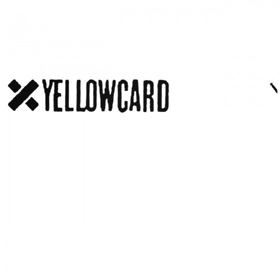 Yellowcard Decal Sticker