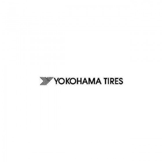 Yokohama Tires Decal Sticker