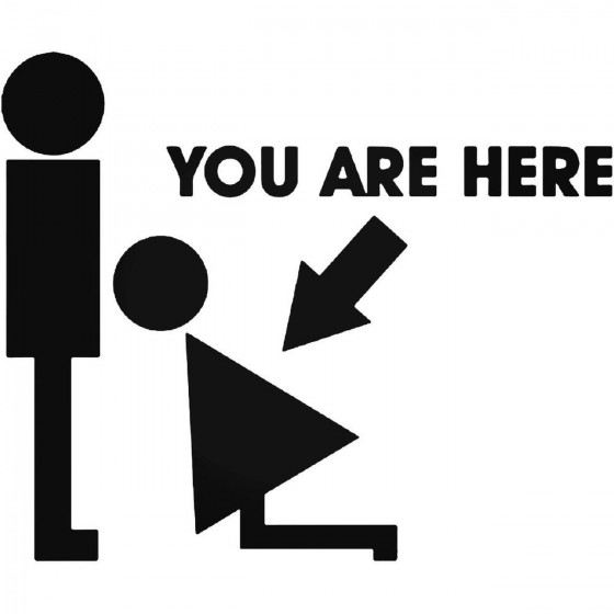 You Are Here Vinyl Decal...