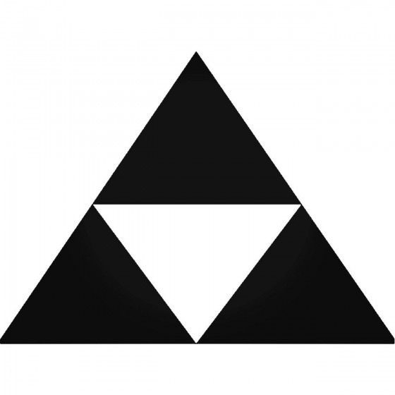 Zelda Tri Force 64 Decal...