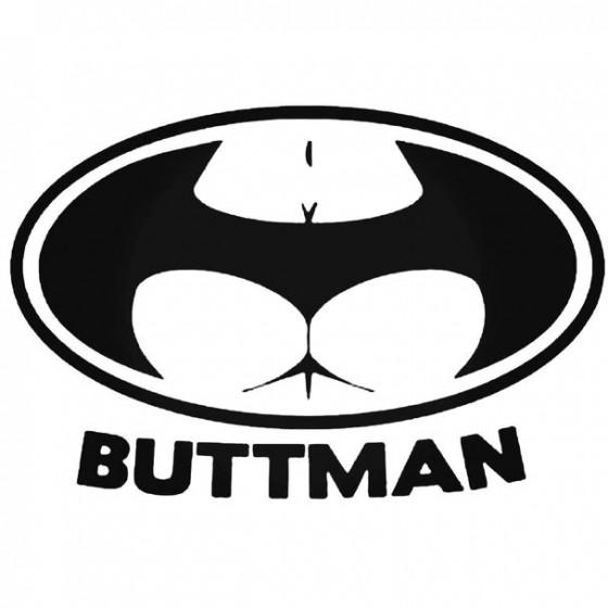 Buttman Decal Sticker
