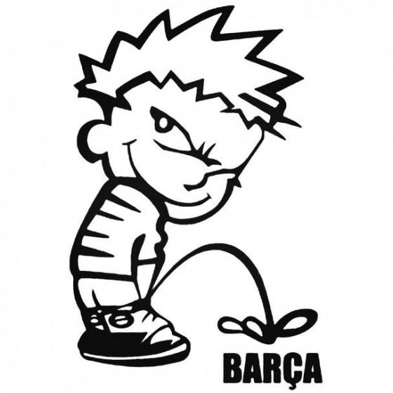 Calvin Pisses Barcelona...