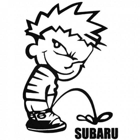 Calvin Pisses Subaru...
