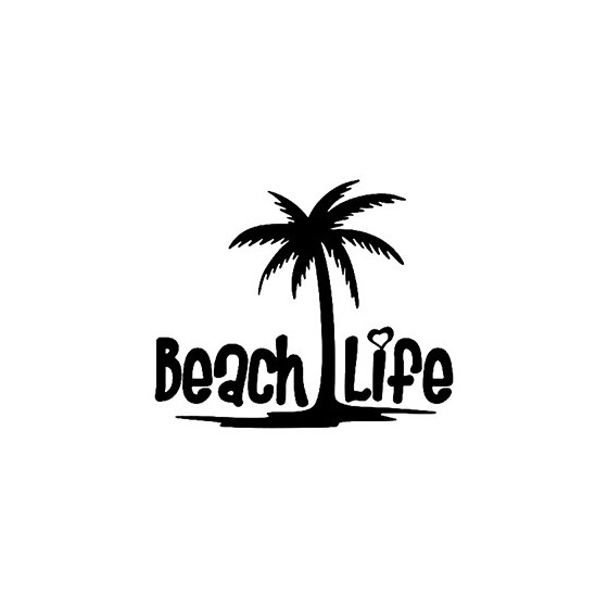 Beach Life Die Cut Vinyl Decal