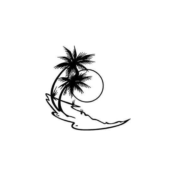 Beach Palm Trees Die Cut...