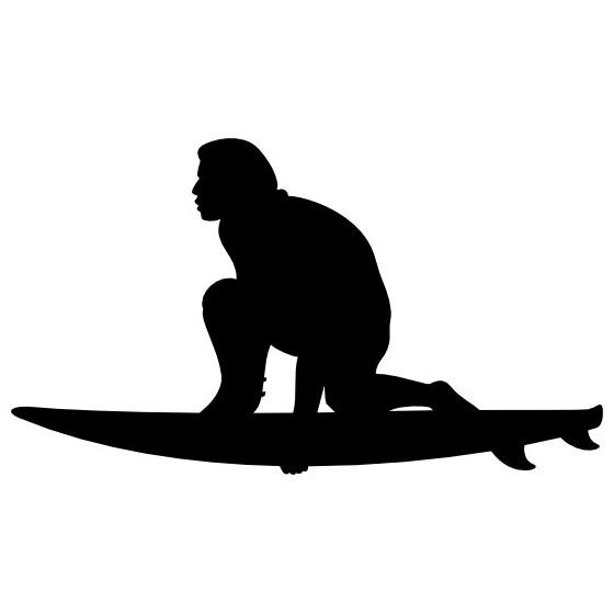 Crouching Surfing Sticker...