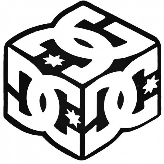 Dc Cube Surfing Decal Sticker