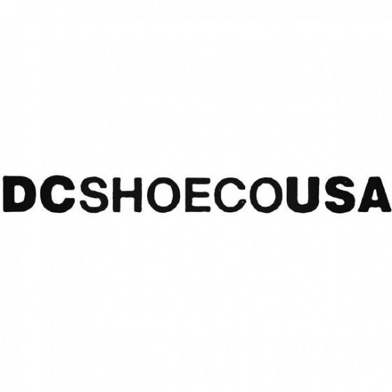 Dc Text Surfing Decal Sticker