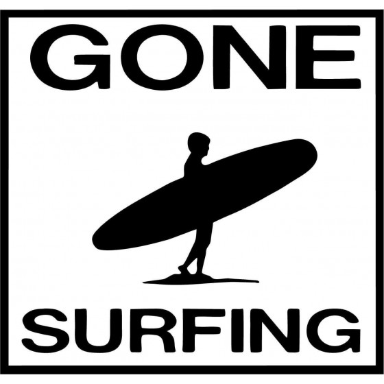 Gone Surfing Vinyl Car...