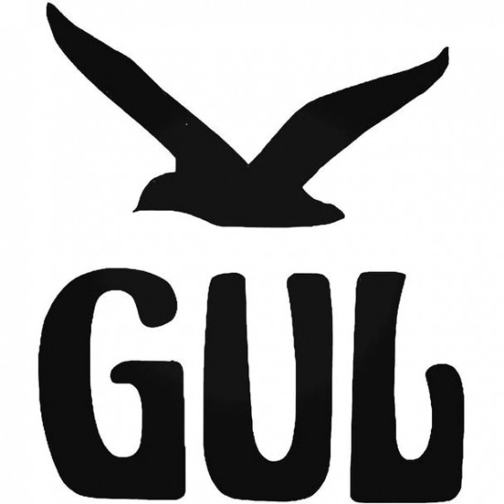 Gul Retro Surfing Decal...