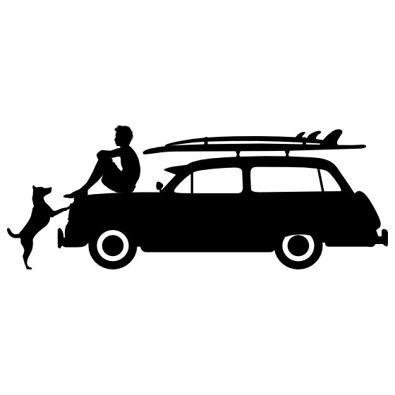 Hanging Out Surfing Sticker...