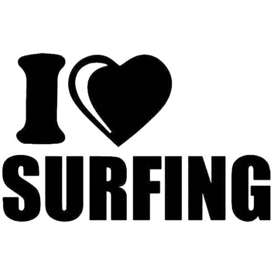 I Love Surfing Vinyl Decal...
