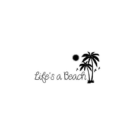 Lifes A Beach Die Cut Vinyl...