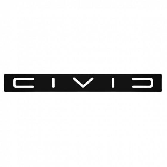 Civic 1 Decal Sticker
