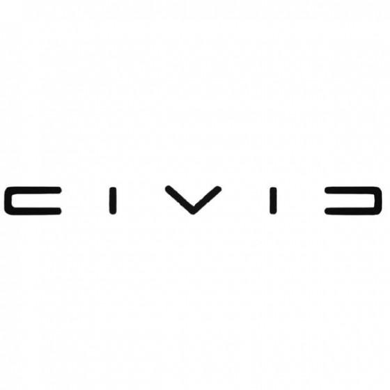 Civic 2 Decal Sticker