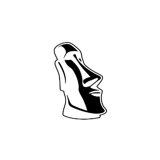 Moai Die Cut Vinyl Decal