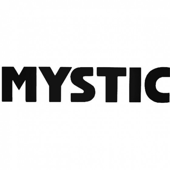 Mystic Text Surfing Decal...