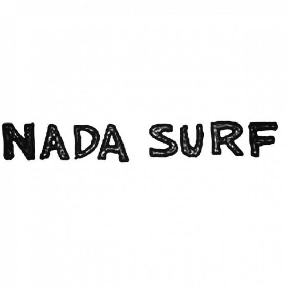 Nada Surf Band Decal Sticker
